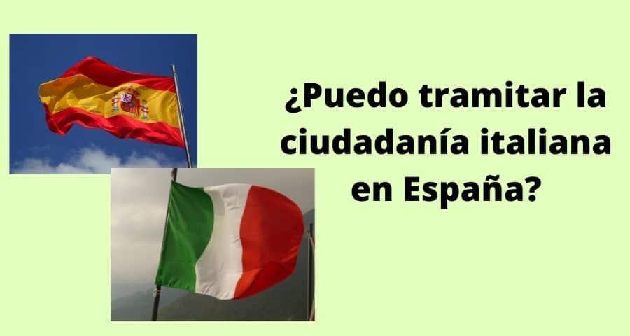 Puedo tramitar la ciudadanía italiana en España
