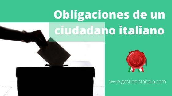 obligaciones de un ciudadano italiano