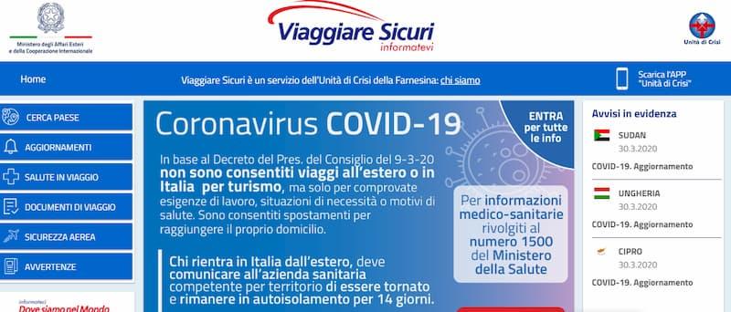 En que te ayuda la Unidad de Crisis del Gobierno italiano